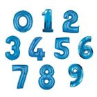 "34"" BLUE FOIL SUPERSHAPE NUMBER BALLOON 0-9 AVAILABLE"