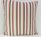 NEW STYLISH SCATTER COVERS BROWN OATMEAL RED STRIPED CUSHION COVERS