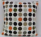 CUSHION COVERS NEW RED ORANGE GREEN BROWN BLACK SPOTTED RETRO SPOTS