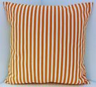 IKEA ORANGE WHITE THIN STRIPED FABRIC CUSHION COVERS