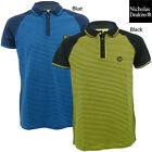 Brand New Nicholas Deakins Surface Striped Body Short Sleeve Polo Shirt