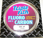 TRIPLE FISH 100% FLUOROCARBON LINE 200 YARD SPOOL CLEAR