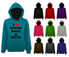 I Love Heart Shoes Bags and Boys Womens Pullover Hoodie NEW UK 12-22