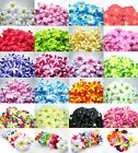 100  Hawaiian Plumeria Frangipani Artificial Silk Flower Heads decoration 3""
