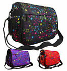 New Girls Womens Pretty Love Stars School College Messenger Satchel Shoulder Bag