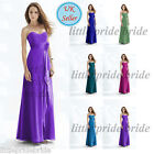 Hot Pink Purple Coral R Blue D Red Chiffon Evening Wedding Bridesmaid Dress 8-24
