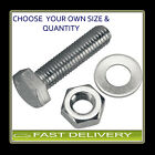 M8 S/Steel Set Screw Bolt Nut & washer FREE P&P