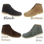 Mens New Wide Fitting Suede Desert Boots / Shoes Gents Sizes  6 - 12