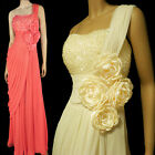New Sequins Beads One Shoulder Cocktail Party Prom Formal Dress Evening Gown