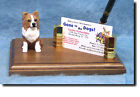 Chihuahua Long Hair Dog Card Holder or Desk Set. oHme Decor Dog Products & Gifts