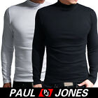 PJ New Mens Warm tight Turtle-Neck Cotton Slim fit base T-shirt Black/White XS~L