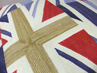 BRAND NEW RED BLUE GREAT BRITAIN UNION JACK CUSHION COVERS WITH CREAM BACK