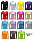 NEW WOMEN'S ROUND NECK FULL-SLEEVE COTTON PLAIN TOPS- Attractive Colours