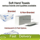 2 Ply White Hand Towels Soft White & Kimberly Clark Disposable Hand Towels