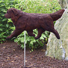 Newfoundland Dog Figure Garden Stake. Home Yard & Garden Products & Dog Gifts.