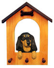 Dachshund (Long Hair) Dog House Leash Holder.In Home Wall Decor Products & Gifts