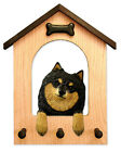 Pomeranian Dog House Leash Holder. In Home Wall Decor Wood Products & Dog Gifts.