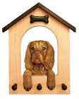 Sussex Spaniel Dog House Leash Holder.  In Home Wall Decor Wood Products & Gifts