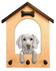 Weimaraner Dog House Leash Holder. In Home Wall Decor Wood Products & Dog Gifts.