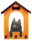 Schipperke Dog House Leash Holder. In Home Wall Decor Wood Products & Dog Gifts.