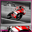 s216 Valentino Rossi Ducati  Moto Gp canvas print Red Memorabilia Various Sizes