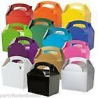 10 X FOOD PARTY BOXES ALL UNDER ONE LISTING GIFT BOX MEAL RED PINK BLUE XMAS