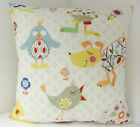 BRAND NEW KIDS CHILDRENS LEARNING ANIMALS BIRD PUPPY DOGS SQUARE CUSHION COVERS
