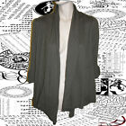 NEW CARDIGAN TAUPE BROWN SHORT SLEEVE