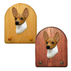 Toy Fox Terrier Dog Figure Key-Leash Holder. Home Decor Dog Products & Dog Gifts