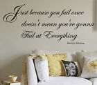 MARILYN MONROE WORDS vinyl  wall quote - VINYL  sticker - wall art  XXL size N44