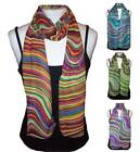 Ladies Multi-coloured Retro Chiffon Scarf - 4 Colours