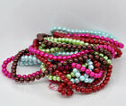 120 x Round Glass Pearl Beads 6mm - Choose Colour