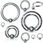 "20g,18g,16g,14g~1/4""- 3/4"" Captive Bead Ring Earrings Lip Nose Cartilage Tragus"
