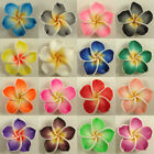 50 PCS Pick Color Polymer Clay Fimo Plumeria Flower Beads 30mm
