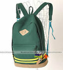 New Women Men Fashion Canvas School Book Campus Bag Backpack 9 Colors WBG774