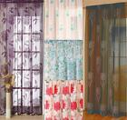 "Modern Floral Voile Panel Net Curtains * 4 Great Designs  Drops 48"" 54"" 72"" 90"""