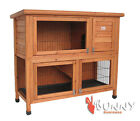 DELUXE DOUBLE DECKER RABBIT / GUINEA HUTCH WITH LEGS / HVY DUTY WIRE HUTCHES RUN