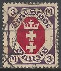Danzig stamps 1921 MI 86X without Rosetten Unterdruck  CANC