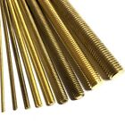 200mm Long Brass Threaded Bar Rod Studding - M2 M3 M4 M5 M6 M8 M10 M12