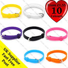 COLOURFUL NEON ADJUSTABLE SILICONE RUBBER WRISTBAND WATCH BRACELET BUCKLE UNISEX