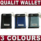 Sports WALLET with security chain Velcro & zip closure MENS boys Womans Trifold