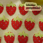 Red Strawberry Appliques Padded Craft Sewing Scrapbooking Trimming New
