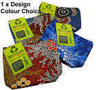 1x Aboriginal Designed Australia Souvenir Recycled PET Fabric Cosmetic Bag