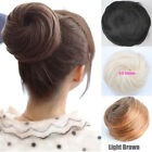 New Woman's Girl Straight Hair Buns Wigs Clip-in Hair Extensions 5 Colors KP07-2