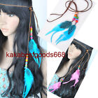 NEW Woman's Girls Feather Headband Party Hair Extensions 10colors Headwear KP91