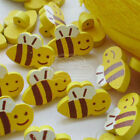 Cute HoneyBee Wood Buttons 20mm Sewing Craft Scrapbooking CWB002