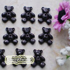 Black  Little Bear 13mm Plastic Buttons Sewing Scrapbooking  Craft LDB
