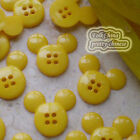 Yellow Mickey Shape 20mm Plastic Buttons Sewing Scrapbooking Craft