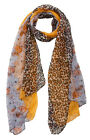Leopard Animal & Paisley Print Light Weight Scarf