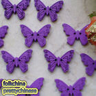 Purple New Butterfly 22mm Wood Buttons Sewing Scrapbooking Craft NCB035-3